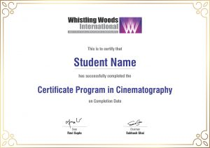 certificate cinemat