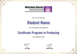 producing certificate