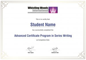 Online Certificate Courses in Series Writing